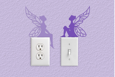 Fairy Silhouettes Light Switch and Outlet Decoration | SVG | PNG | DXF