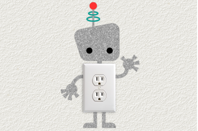 Robot Light Switch and Outlet Decoration | SVG | PNG | DXF