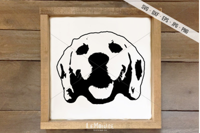 Dog Face SVG, Puppy Cut File, Cutting File