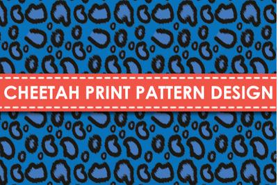Cheetah print pattern design