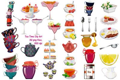 High Tea Party Clip Art