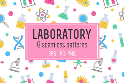 6 laboratory seamless patterns