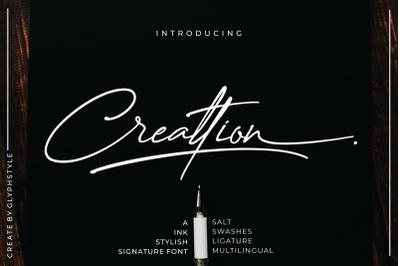 Creattion - a Ink Stylish Signature Font