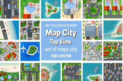 A set of maps top view