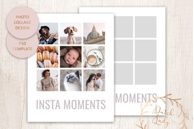 PSD Photo Collage Template #8