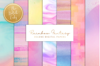 Digital Backgrounds & Papers - Rainbow Fantasy