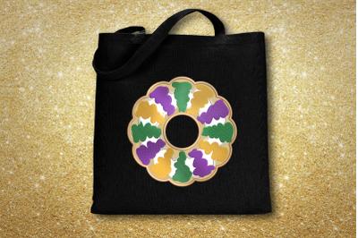 Mardi Gras King Cake | Applique Embroidery