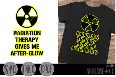 Radiation therapy gives me afterglow, SVG, PNG, DXF