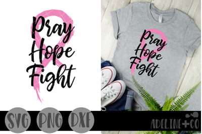 Pray hope fight, SVG, PNG, DXF