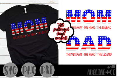 The Veteran, the hero, the legend, bundle, SVG, PNG, DXF