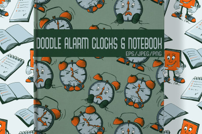 Doodle Alarm Clock and Notebooks