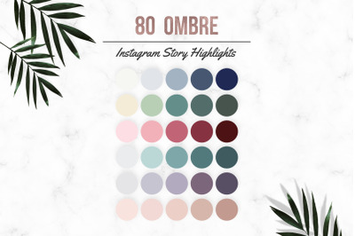 80 Ombre Effect Instagram Story Highlight Icon Covers, Instagram Highl