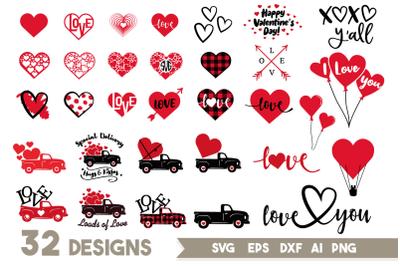Valentines Day SVG Bundle, Love Svg,Valentine Svg,Valentines Truck SVG