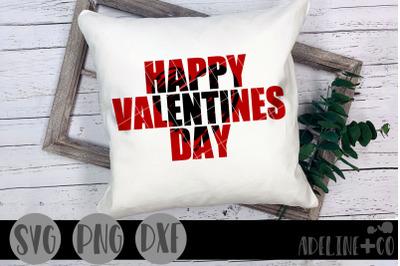 Happy Valentine's Day knockout SVG, PNG, DXF