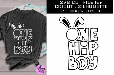 One hip boy svg, easter boy shirt svg