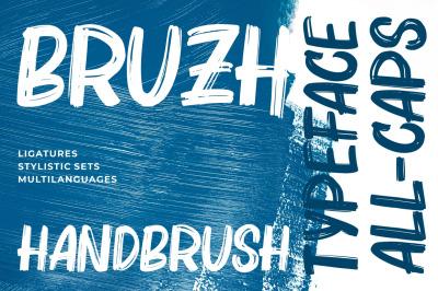 Bruzh - Handbrush Font