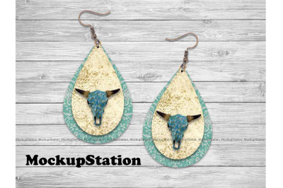 Earring Sublimation Design, Teardrop Earring PNG Template Download