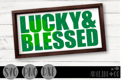 Lucky and blessed SVG, PNG, DXF
