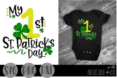 My 1st St Patrick's Day SVG, PNG, DXF