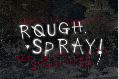 Rough Spray SVG typeface