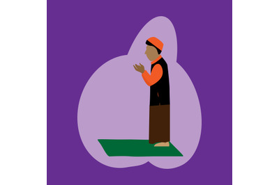 muslim pray illustration
