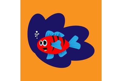 funy fish character