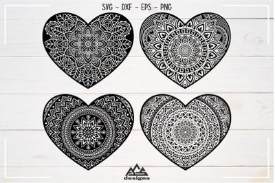 Love Heart MANDALA Svg Design