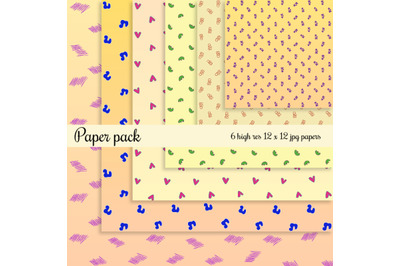 Lines and loops Scrapbook Paper