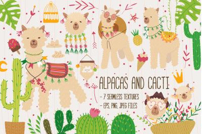 Alpacas and cacti