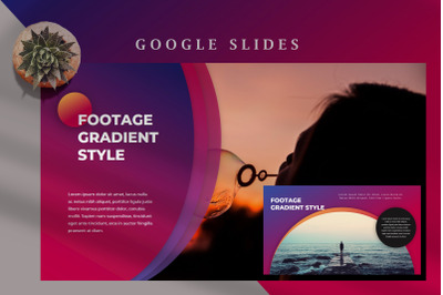 Footage Gradient. Beautiful Creative Google Slides