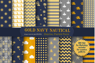Gold Nautical Patterns