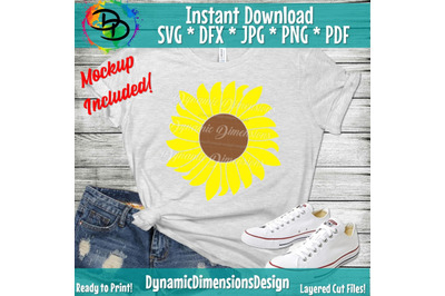 Sunflower SVG&2C; Flower SVG&2C; Grunge Sunflower&2C; Grunge Flower SVG&2C; Distre
