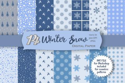 Snow Digital Paper