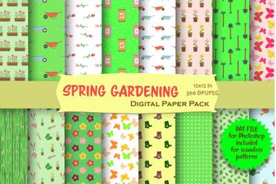 Spring Gardening Digital Paper Pack
