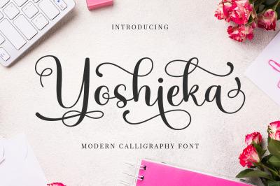 Yoshieka | Modern Calligraphy Font