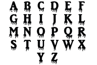 Dripping Letters SVG, Dripping Alphabet SVG Cut Files