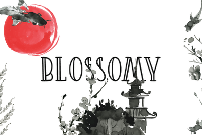 Blossomy Double Lined Font | LoveSVG