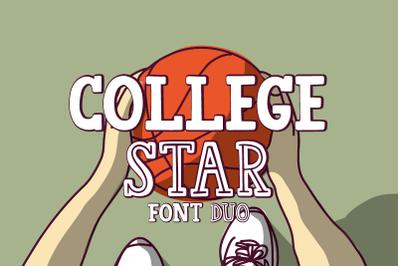 College Star Font Duo | LoveSVG