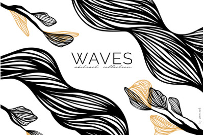 WAVES. Abstract lines