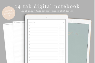 Digital Notebook, Goodnotes notebook, DigiBujo, notability notebook, n