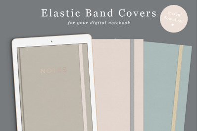 Digital Notebook Cover Elastic Band in 6 colours | Goodnotes Cover