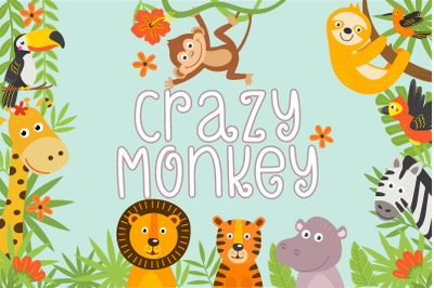Crazy Monkey Curly Font | LoveSVG