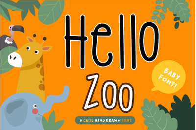 Hello Zoo Handwritten- cute kid font Kawaii style!