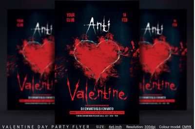 Anti Valentine Day Flyer