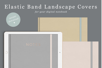 Landscape Goodnotes Cover with elastic band in 6 coulours