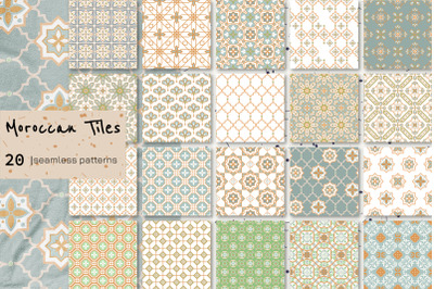 """Moroccan Tiles"" - Seamless Patterns"