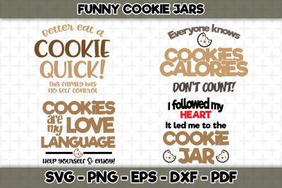 Funny Cookie Jar Bundle SVG