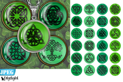 Digital collage sheet Celtic Knots Circle Printable images
