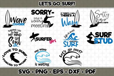 Let's Go Surf! BUNDLE - SVG Cut Files