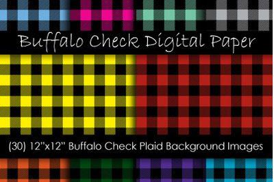 Buffalo Plaid Digital Paper - Buffalo Check Plaid
